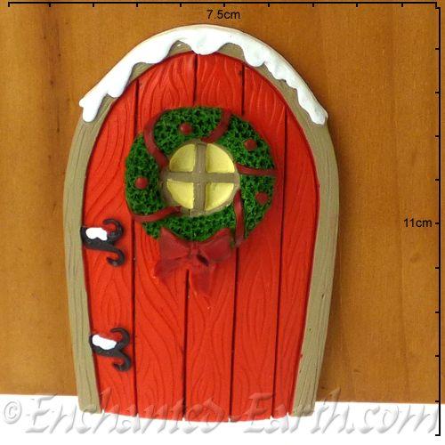 & Christmas Fairy Door - Candy Cane House door. pezcame.com