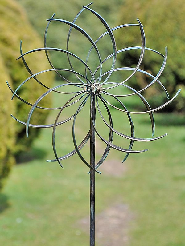 Copper pinwheel wind spinner for Outdoor wind spinners