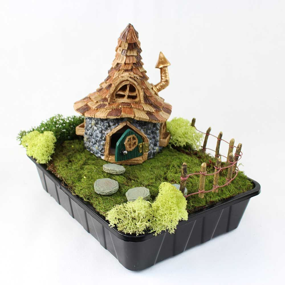 Fiddlehead Fairy House Shingletown Troll Cottage With