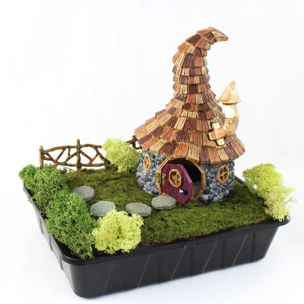 Fiddlehead Fairy House- Shingletown Wizards Cottage with Open ...