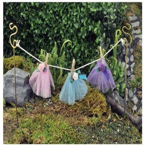 Fiddlehead Long Fairy Garden Washing Line 20cm