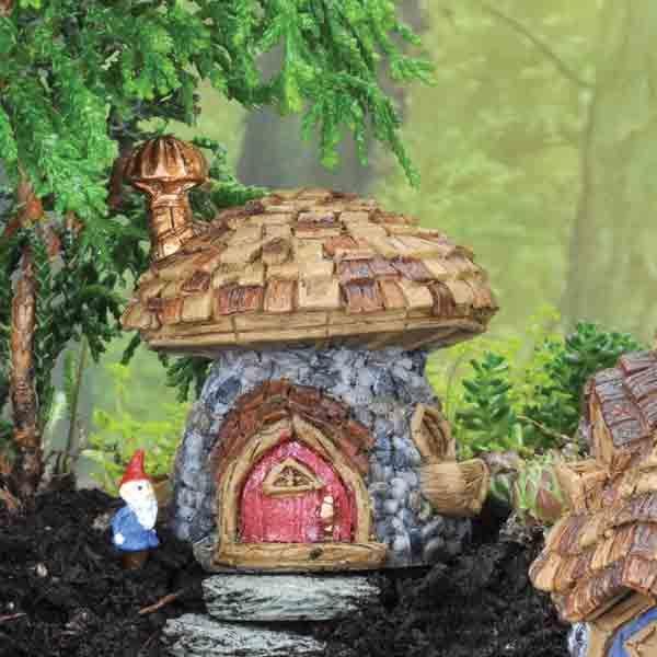 Fiddlehead Micro Mini  Stone Mushroom Cottage .