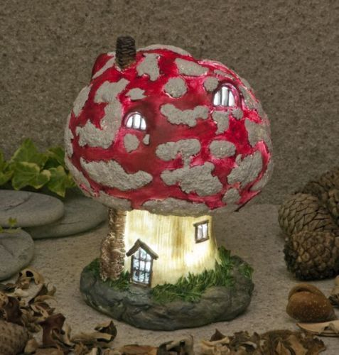 Garden Glows Solar Led Fairy Toadstool Cottage