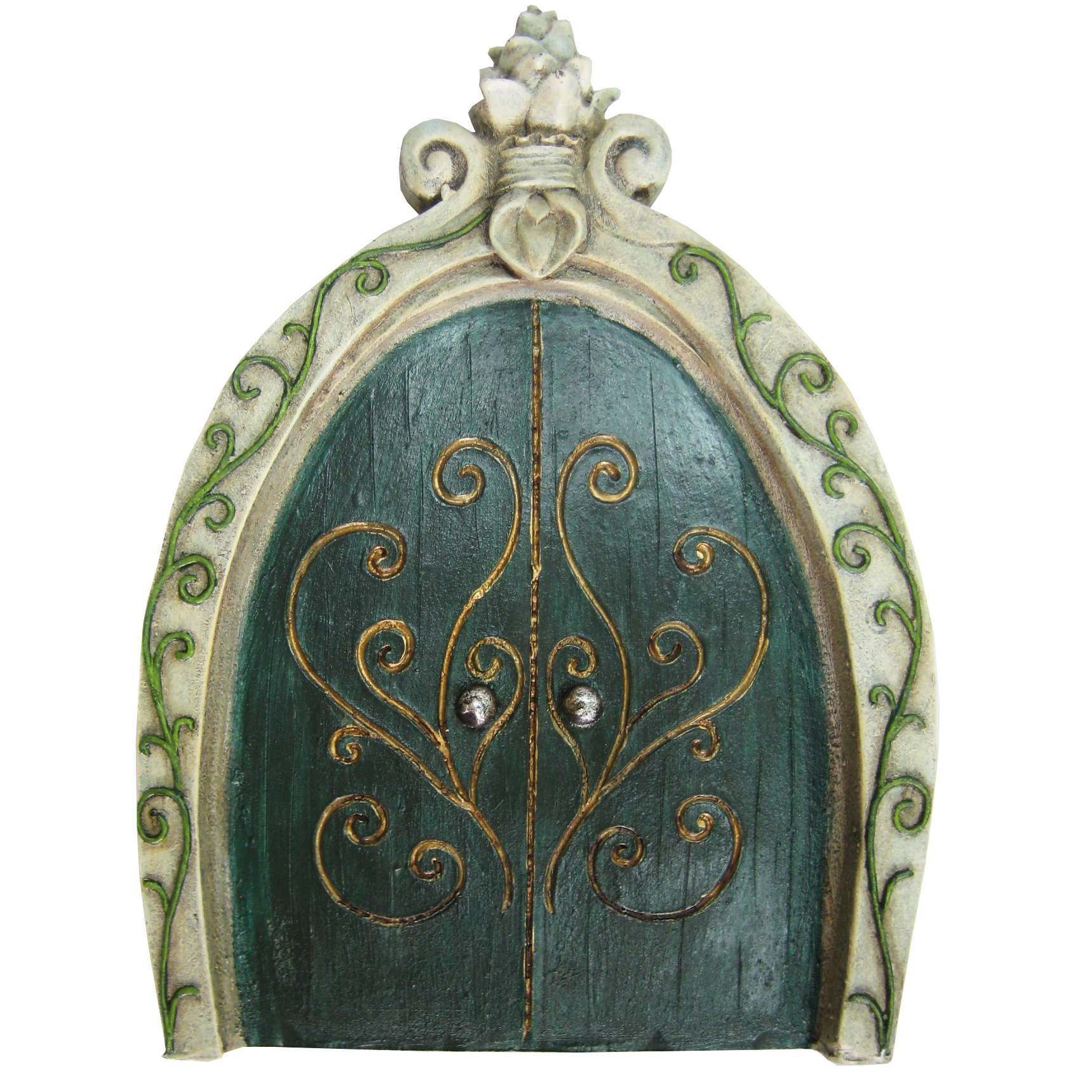 sc 1 st  Enchanted Earth & Large Green Fairy Door- Princess Castle Door- 20cm