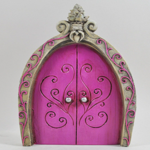 Large Pink Fairy Door Princess Castle Door