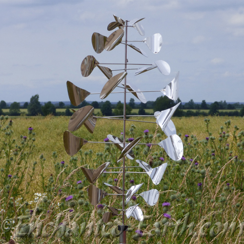 Large Stainless Steel Spiral Wind Spinner