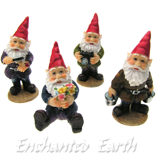 Mini Garden Gnome With Magnifying Glass