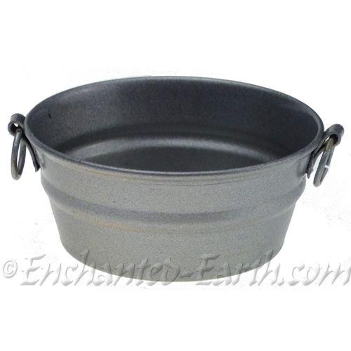 mini zinc bowl planter