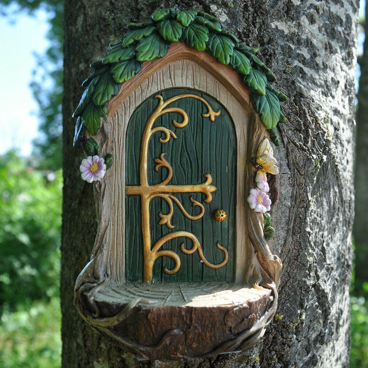 Woodland fairy door the fairy landing pad for Fairy door with fairy