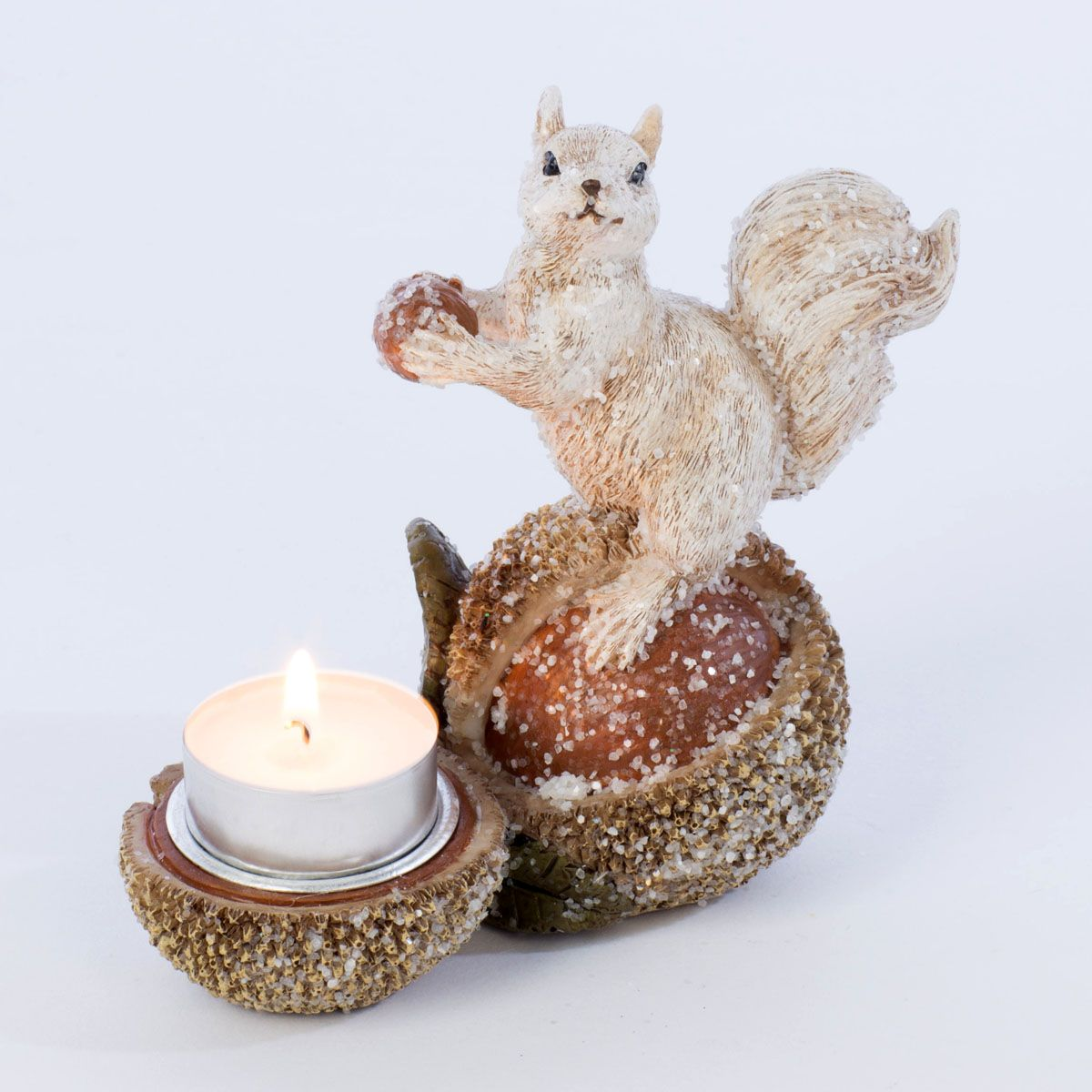 Christmas Squirrel.Christmas Squirrel Tea Light Holder