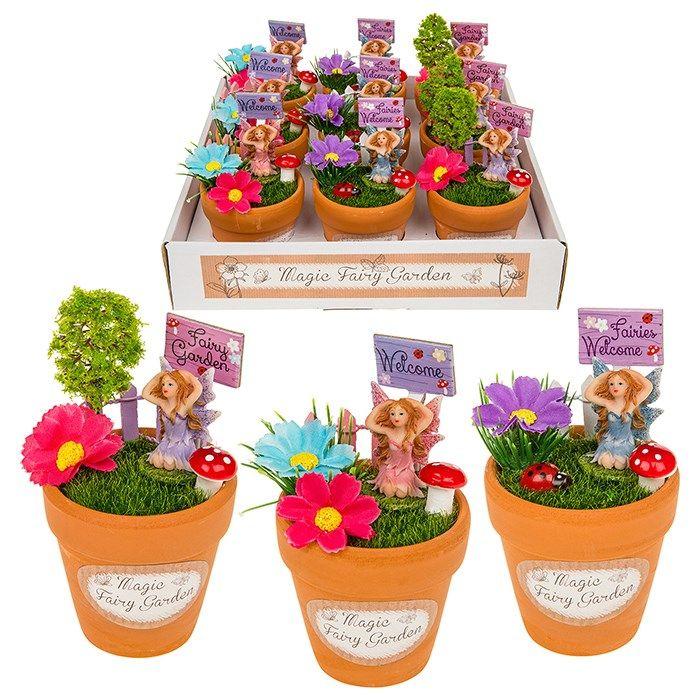 225 & Complete read made Magical Flower Pot Fairy garden - Mini 11cm Terracotta Flower Pot