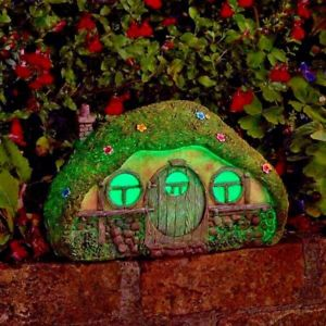 Home Sweet Home - Solar - LED Colour changing Fairy House.