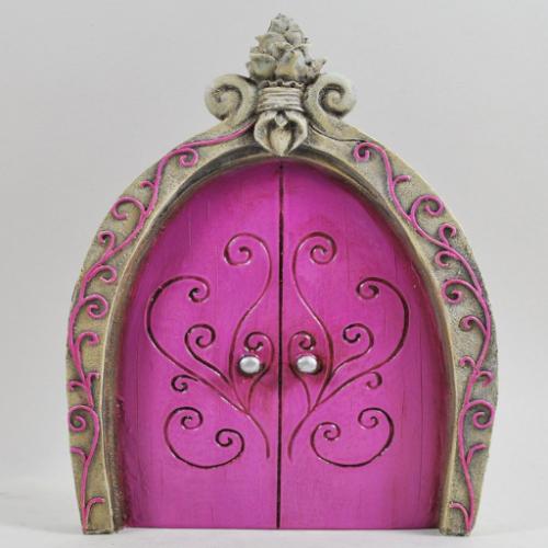 Large Pink Fairy Door Princess Castle Door