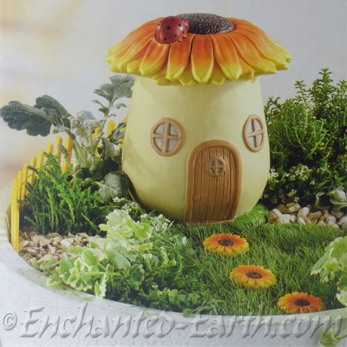 Large Fairy Garden Sunflower House