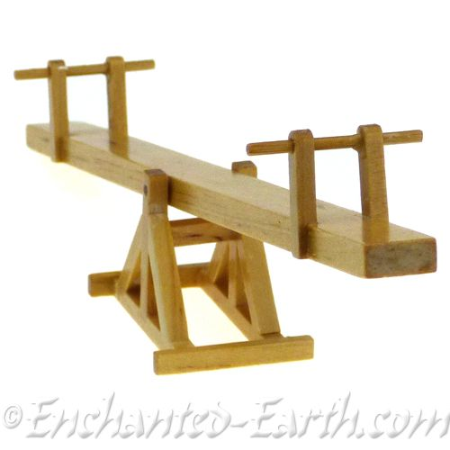Long Mini Garden Wooden See Saw