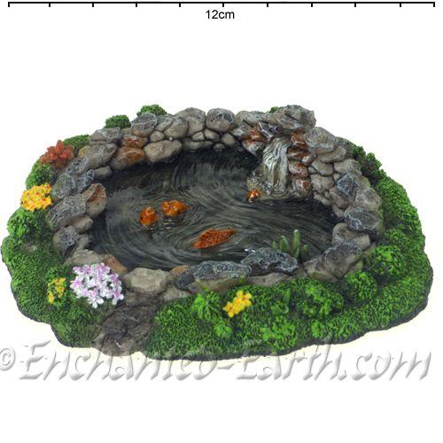 Ordinaire Vivid Arts Miniature World  Mini Rock Pond With Koi Fairy Garden Pool   13cm